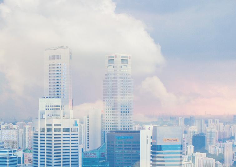 singapore in pastel