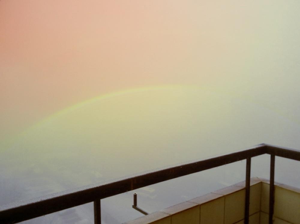 fog and rainbow
