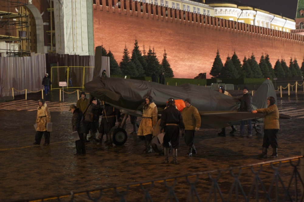 red square airplane