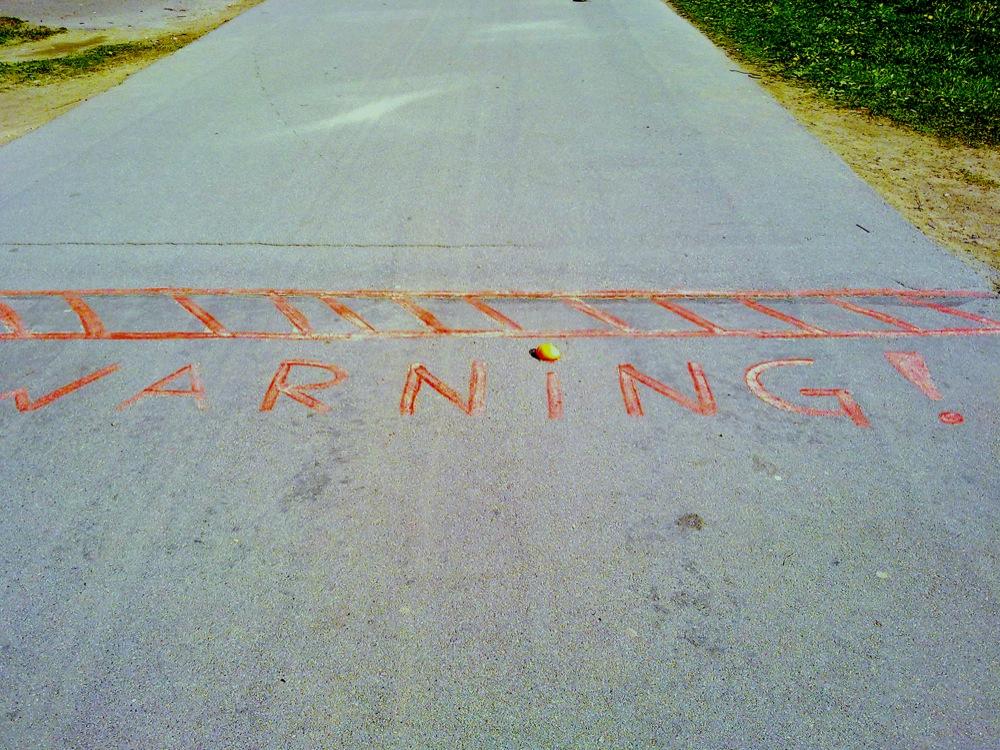 warning oranges