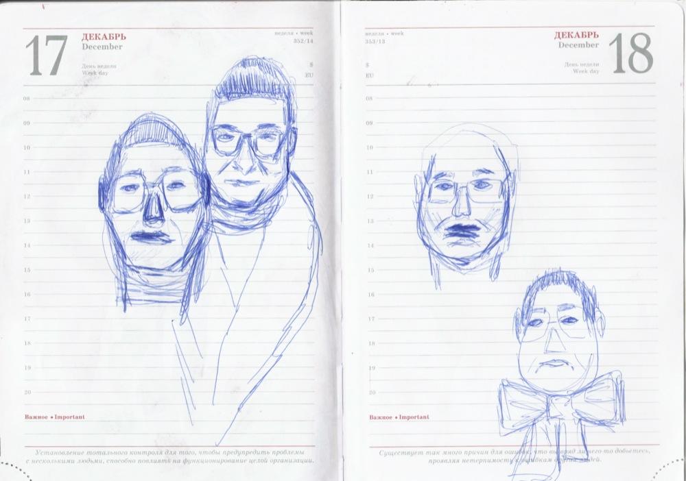 men drawing