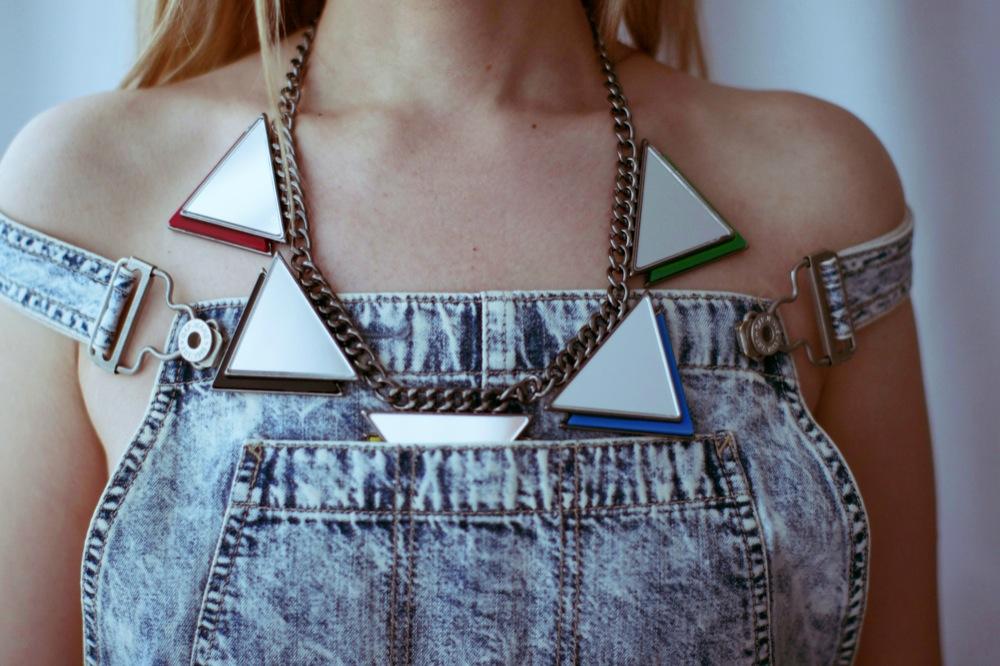 mirror triangle necklace hm