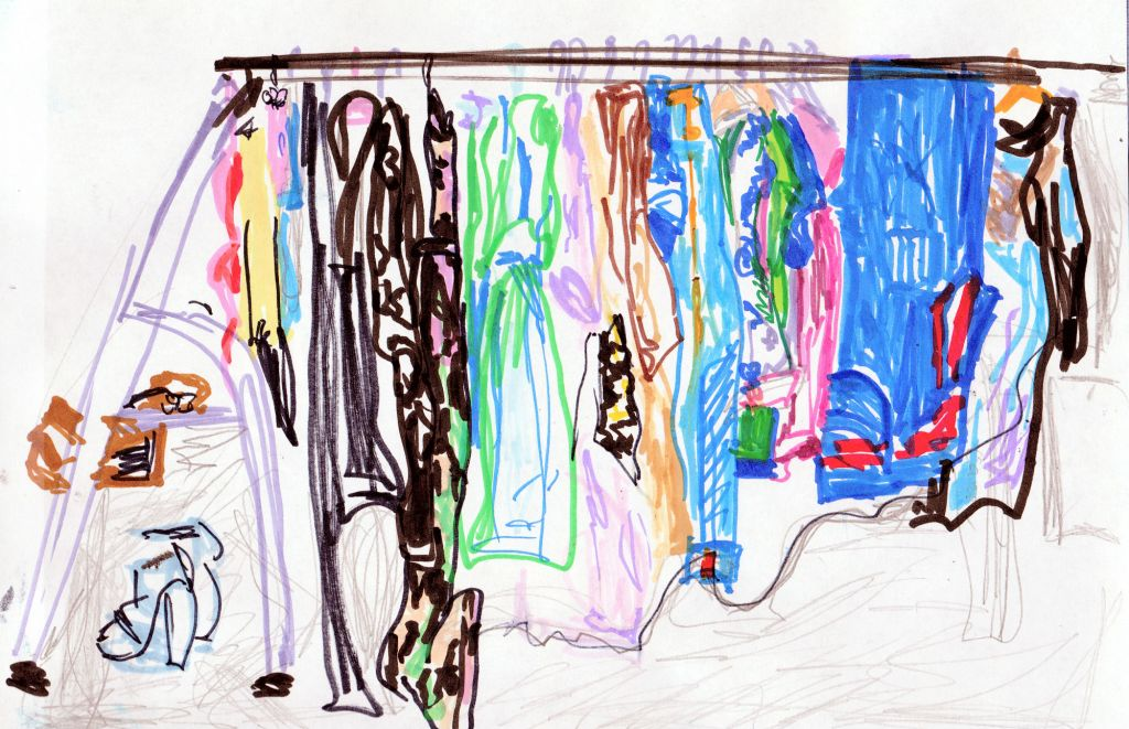 my wardrobe sketch