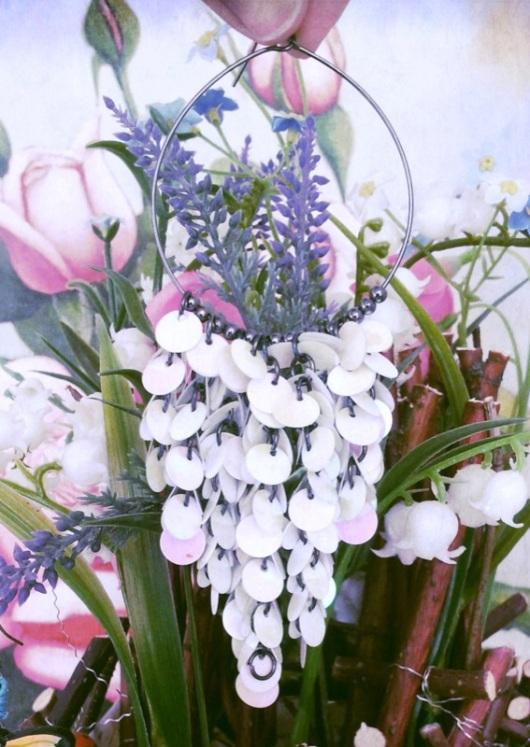 flowers and earings