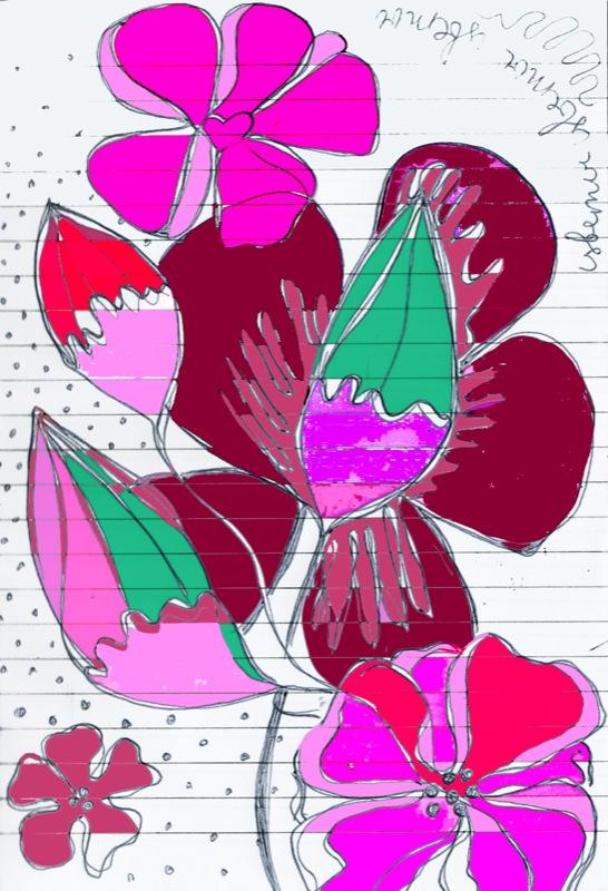 flower pattern colour